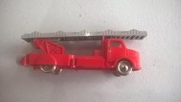 Miniature Camion De Pompiers Lego - Très Bon état - Circa 1980 - Rare - Jouets Anciens