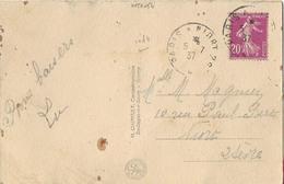 CACHET AMBULANT PARIS NIORT 2° 1937 - Railway Post