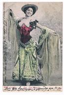 CPA Dos Non Divisé : Senorita Luz Chavita , Luisa Lacalle ( 1880-??) Danseuse Espagnole, Danseuse étoile - Artisti