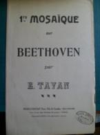 Partition: 1ere Mosaïque Sur Beethoven,pour 1er Vilon, Par Emile TAVAN - Music & Instruments