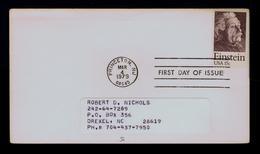 EINSTEIN USA Fdc 1979 Physics Célébritées Famouse People Sp5354 - Albert Einstein