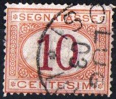 ITALIA, ITALY, SEGNATASSE, POSTAGE DUE, REGNO, 1871 FRANCOBOLLO USATO Y.T.  T6   Scott J6 - Segnatasse
