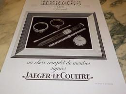ANCIENNE PUBLICITE MONTRE HERMES 1939 - Jewels & Clocks