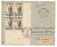 5540 - Avec Surtaxe En Bloc De  4 - Marcophilie (Lettres)