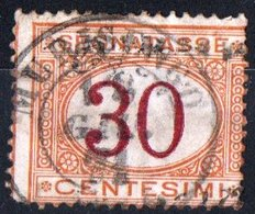 ITALIA, ITALY, SEGNATASSE, POSTAGE DUE, REGNO, 1870 FRANCOBOLLO USATO Y.T.  T8   Scott J8 - Segnatasse