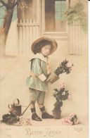Thèmes - Fêtes - Voeux - Nouvel An - Bonne Année - Enfant - Roses - Nouvel An