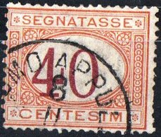ITALIA, ITALY, SEGNATASSE, POSTAGE DUE, REGNO, 1870 FRANCOBOLLO USATO Y.T.  T9   Scott J9 - Segnatasse