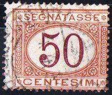 ITALIA, ITALY, SEGNATASSE, POSTAGE DUE, REGNO, 1870 FRANCOBOLLO USATO Y.T.  T9   Scott J10 - Segnatasse