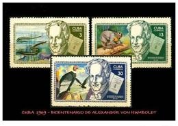 CUBA/KUBA 1969 BICENTENARIO DEL NACIMIENTO DE ALEJANDRO VON HUMBOLDT MNH - Cuba