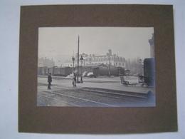 PHOTOGRAPHIE Ancienne : LYON / GARE De BROTTEAUX 1923 - Places