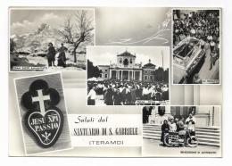 SALUTI DAL SANTUARIO DI S.GABRIELE - TERAMO -     VIAGGIATA FG - Teramo