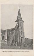 Carte Eglise De FORGES 1915 D'après Une Photographie Allemande. Cachet De Franchise Mlitaire - Other Municipalities