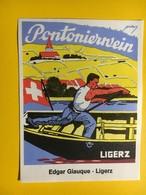 8695 - Pontonierwein Edgar Giauque Ligerz  Suisse - Militaire