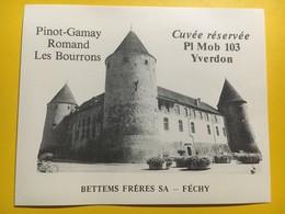 8696 - Cuvée Réservée Place Mobilisation 103 Yverdon  Suisse Pinot-Gamay  & Féchy 2 étiquettes - Militaire