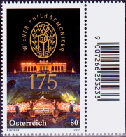 Austria Österreich 2017  175 Jahre Wiener Philharmoniker MNH / ** / POSTFRISCH - 1945-.... 2ème République