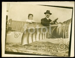 20s STUDIO PHOTO FOTO AVION FAKE PLANE AIRCRAFT PORTUGAL Mpl97 - Luftfahrt