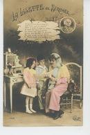 """ENFANTS - LITTLE GIRL - MAEDCHEN - Jolie Carte Fantaisie Femme Et Enfants """"LA LISETTE DE BÉRANGER """" - Portraits"""