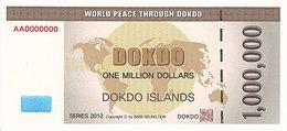 Specimen Île DOKDO Corée 1 000 000 Dollars 2012 UNC - Fictifs & Spécimens