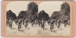 PHOTOGRAPHIE STÉRÉOSCOPIQUE ORIGINALE USA Bicycle Tournament BROOKLYN - Stereoscopio