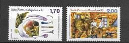 Timbre Neuf** St Pierre Et Miquelon , N °689-90 Yt , Le Maréchal-ferrant, Cheval - St.Pierre Et Miquelon