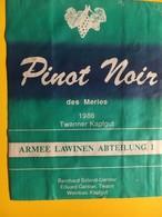 8704 - Pinot Noir Des Merles 1986 Armee Lawinen  Abteilung 1 Suisse - Militaire