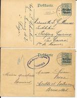 2 X CPA / PK / AK   Deutsches Reich   TAMINES + LIÈGE - Guerre 14-18