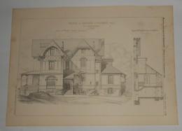 Plan D'une Maison De Campagne à Colombes. Seine. M. S. Rançon, Architecte. 1885. - Public Works