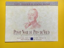 8706 - Cuvée Souvenir Du Général Guisan  Suisse Pinot Noir - Militaire