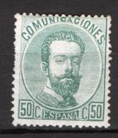Spagna 1872 Unif.125 */MH VF/F - 1872-73 Regno: Amedeo I