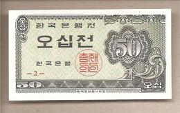 Corea Del Sud - Banconota Non Circolata FDS Da 50 Jeon P-29a - 1962 - Korea, South