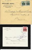 2 X Lettre Deutsches Reich  MONS + BACONFOY ( Cfr Marche ) - [OC1/25] Gouv. Gén.