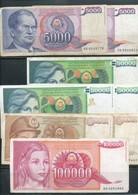 Jugoslawien-  8 Verschiedene Banknoten - Jugoslawien