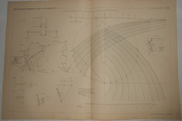 Plan D'une étude Graphique De La Stabilité Des Murs De Souténement. 1885. - Travaux Publics