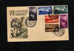 Spain 1958 Railways Congress - 1951-60 Briefe U. Dokumente