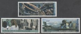 SPAIN, 2018, MNH, MUSEUMS, GUGGENHEIM MUSEUM, MARITIME MUSEUM, WHALES, WHALE SKELETON, 3v - Museums