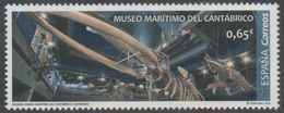 SPAIN, 2018, MNH, MUSEUMS,  MARITIME MUSEUM, WHALES, WHALE SKELETON, 1v Ex. Set - Museums