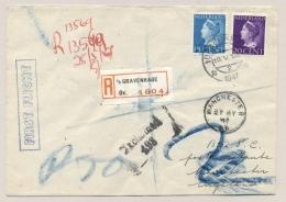 Nederland - 1947 - 15 En 20 Cent Konijnenburg Op KLM / Aer Lingus R-First Flight Amsterdam - Manchester / UK - Covers & Documents