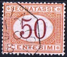 ITALIA, ITALY, SEGNATASSE, POSTAGE DUE, REGNO, 1890 FRANCOBOLLO USATO Un. S25   Michel P9b (1) - 1878-00 Umberto I