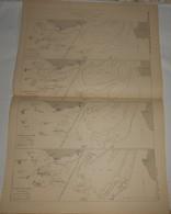 Plan De L'étude Sur Les Fonds De La Loire Entre La Mer Et Saint Nazaire. 1885. - Public Works