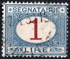 ITALIA, ITALY, SEGNATASSE, POSTAGE DUE, REGNO, 1890 FRANCOBOLLO USATO Un. S27    Scott J14 - 1878-00 Umberto I