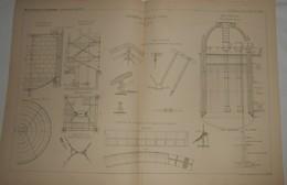 Plan De La Distribution D'eau De Colmar. M. Gruner, Ingénieur. 1885. - Travaux Publics
