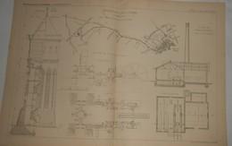 Plan De La Distribution D'eau De Colmar. M. Gruner, Ingénieur. 1885. - Public Works
