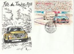 Enveloppe 14,5X 19,5 Avec Bloc Feuillet De La Fête Du Timbre 2018 . Cachet De St Brice Courcelles - France