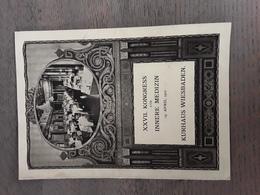 XXVII KONGRESS FUR INNERE MEDIZIN 19  APRIL 1910 KURHAUS WIESBADEN - Menus