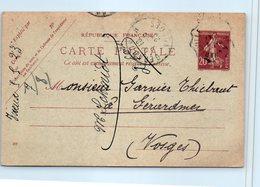 08 VIREUX - Année 1923 - Oblitération (entiers Postaux ) - Autres Communes