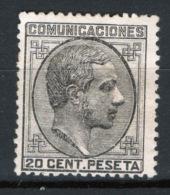 Spagna 1878 Unif.176 */MH VF/F - 1875-1882 Regno: Alfonso XII