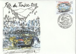 Enveloppe Avec Timbre De  La Fête Du Timbre 2018 . Cachet De St Brice Courcelles - France