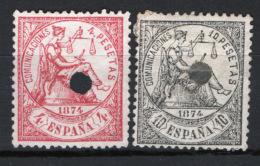 Spagna 1874 Unif.149/50 O/Used VF/F - 1873-74 Regentschaft