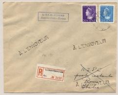 Nederland - 1947 - 15 En 20 Cent Konijnenburg Op KLM R-First Flight Amsterdam - Rome / Italy - Periode 1891-1948 (Wilhelmina)