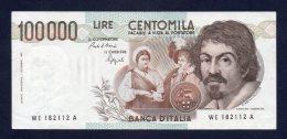 100.000 Lire Caravaggio I° Tipo 1/9/1983 (molto Bello) - [ 2] 1946-… : Républic